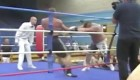 Eddie Hall Sends A Man Flying In Boxing Match