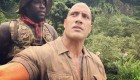 Kevin Hart Takes a Seat on the Back of The Rock on 'Jumanji' Set