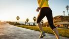 Woman Running on Boardwalk