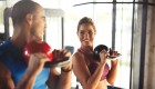 Young Couple Kettlebell Workout