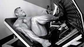 IFBB-Bodybuilder-John-Meadows-Leg-Press-BW miniatura