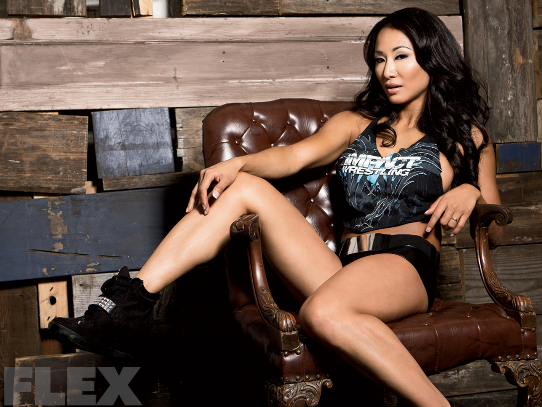 Gail Kim Hot Images tna knockouts champ gail kim   muscle & fitness