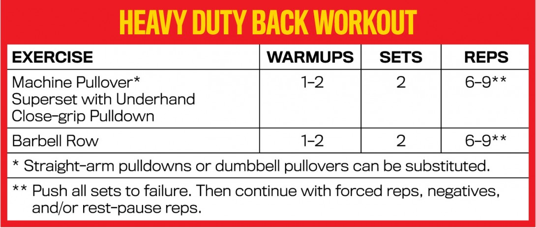 Heavy Duty Back Workout