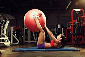 Stability Ball Finger Tap